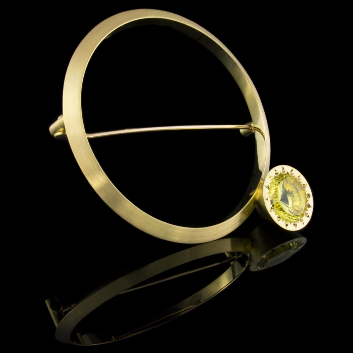 brooch lemon quartz gold