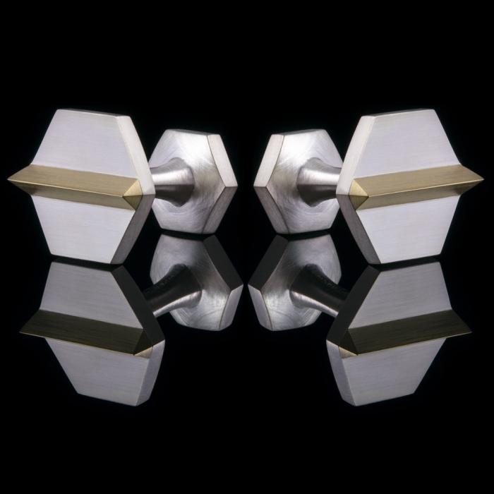 gold cufflinks silver