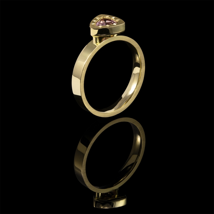 pink sapphire gold dress ring alternative engagement ring
