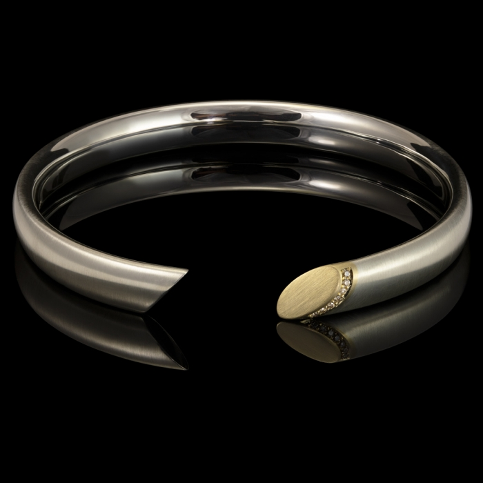 bangle gold silver diamonds