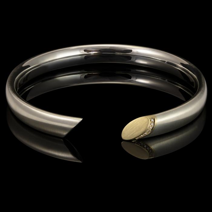 bangle gold silver diamonds