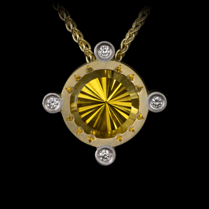 gold platinum citrine diamonds